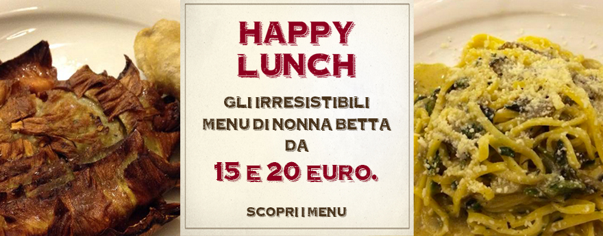 NonnaBetta Happy Lunch menu kosher style pranzo roma ghetto